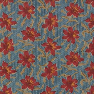 Moda Jelly Bean by Laundry Basket Quilts - 3252 - Dark Pink Floral on Blue  42154 15
